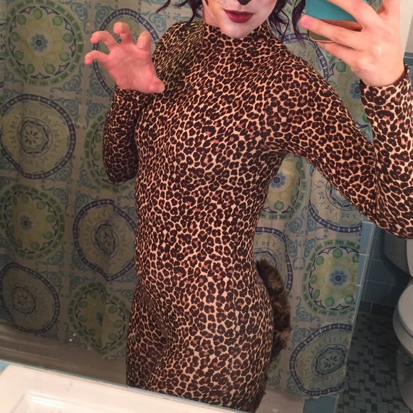 American Apparel Pants - Halloween Leopard Leotard